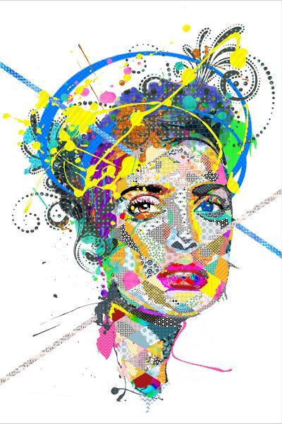 Salma Hayek, 2016, Mixed Media on canvas, 150x100cm