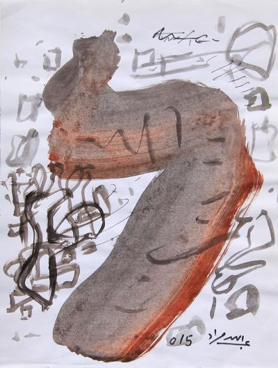Untitled A10, mixed media on paper,  21 x 30 Cm