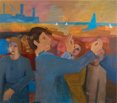 Hymne à la mer, 2015, Acrylic on linen, 102x115 cm