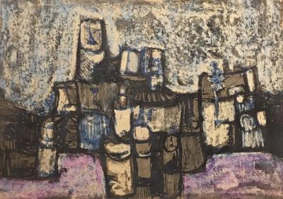 Untitled B8, 1972, Mixed media on paper, 50 x 70 cm