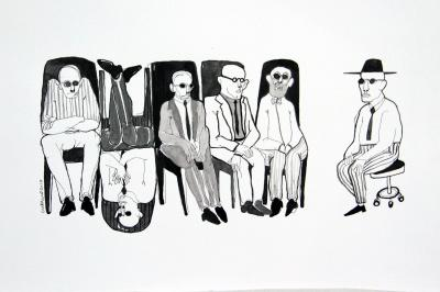 Group 7, 2016, ink on paper, 30x42 cm
