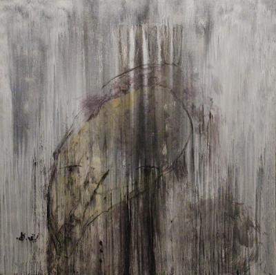 Rain on me part2, Acrylic on canvas, 2014, 135x135 cm